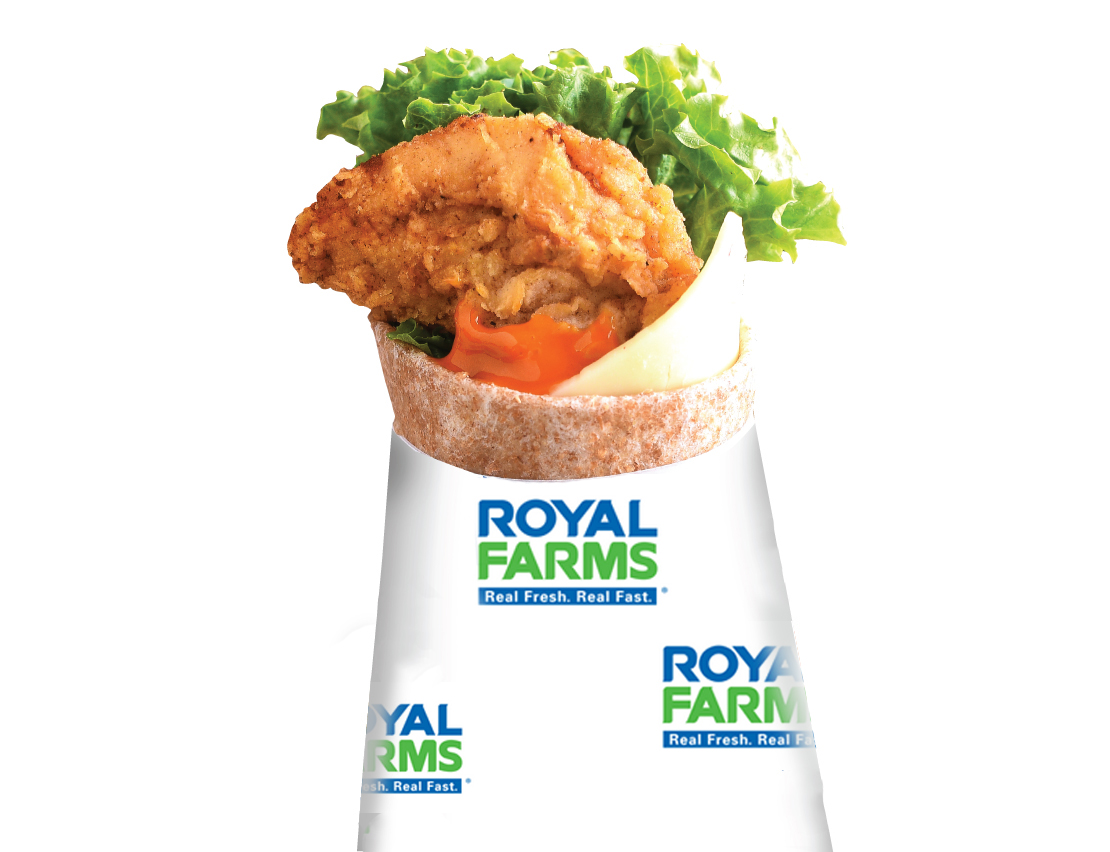 Royal Farms Wing with Pepper Cheese Snack Wraps
