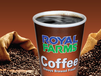 Royal Farms Coffee and Hot Beverage Options.
