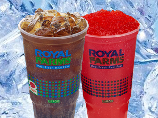 Royal Farms Cold Beverage Options.