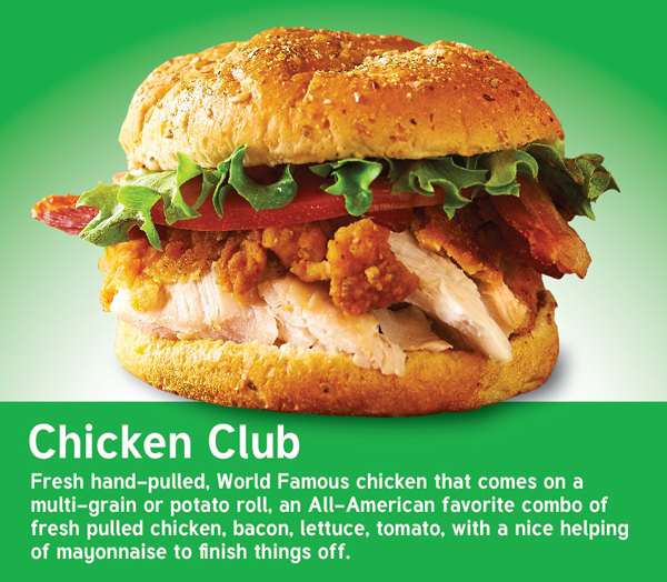 NEW Chicken Club Sandwich.