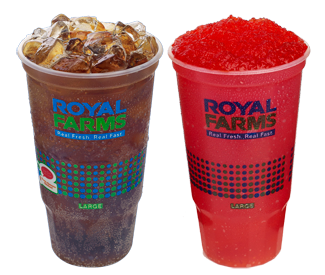 Fountain Drinks and Cold Beverages at Royal Farms.