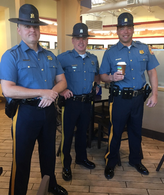 Coffee with a Cop photo.