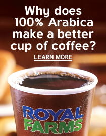 100% Arabica beans makes a better cup of coffee.
