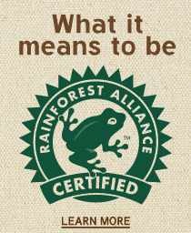 Royal Farms Rainforest Gourmet Blend Coffee is Rainforest Alliance Certified.