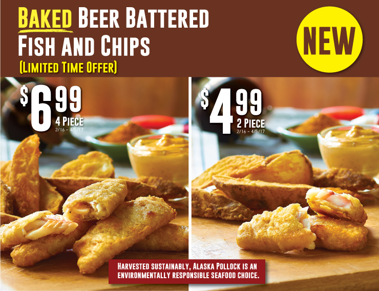 NEW Baked Beer Battered Fish and Chips