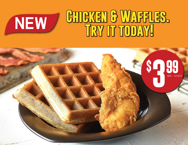 New Chicken and Waffles.