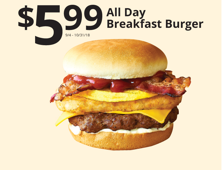 599 all day breakfast burger