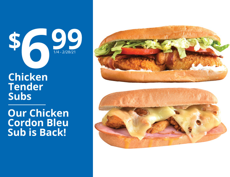 6.99 chicken tender subs