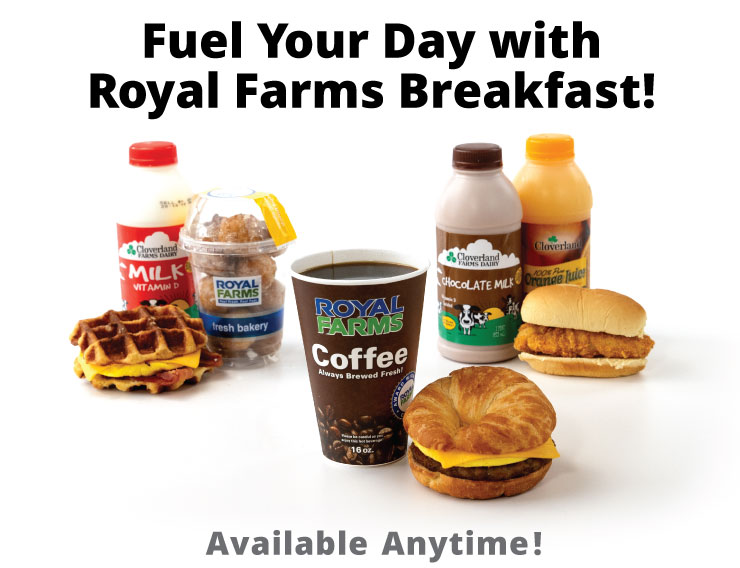 fuel your day with royal farms breakfast