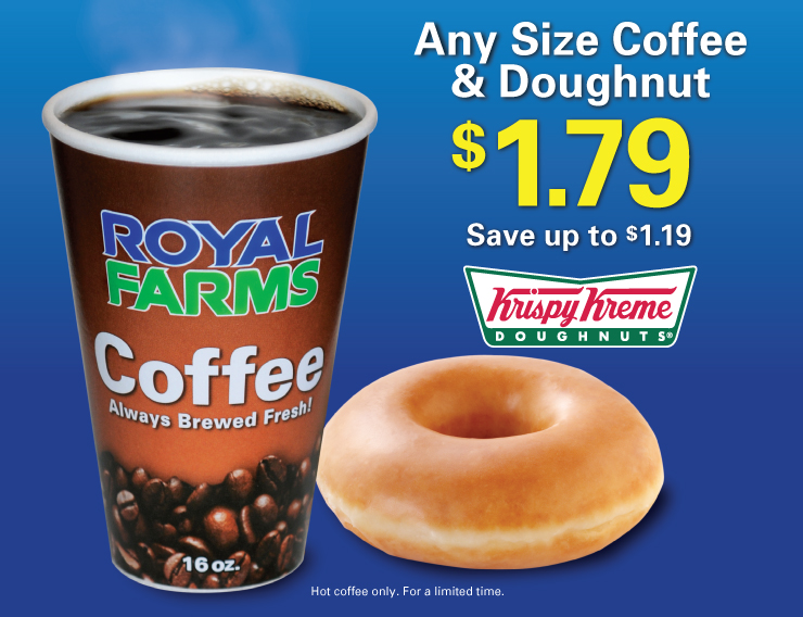 Any Size Coffee and Doughnut